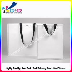 Custom Costume Vêtements bon marché recyclables imprimé papier Emballage Logo Shoppin sac sac cadeau des vêtements de papier