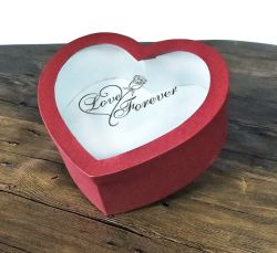 Red Heart-Shaped enfeites /Caixa de Chocolate Embalagem Caixa de impressão, caixa de oferta em Guangdong