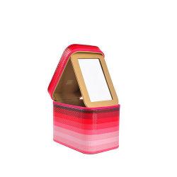 Beauté cosmétiques rouge en cuir avec Morror (HB-6600)