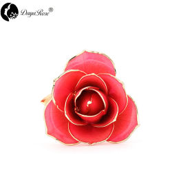 Aufbereitendes kundenspezifisches Diana-rosafarbenes Goldrosen-Weihnachtsgroßhandelsgeschenk