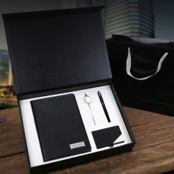 Kundenspezifisches Firmenkundengeschäft-Geschenk-gesetztes Notizbuch arbeiten förderndes Geschenk-Set zusammen