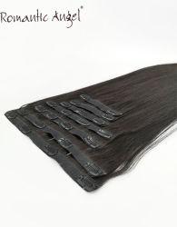 Nouveau Seamless Remy Hair Clip humaine sur les Extensions de cheveux noirs libres enchevêtrement des fils de trame