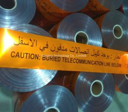 Adhesivo no detectables de advertencia de subterráneo cintas cintas marcadoras