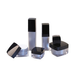 preço de fábrica boião de creme de acrílico quadrado Creme Facial Embalagens de cosméticos do vaso