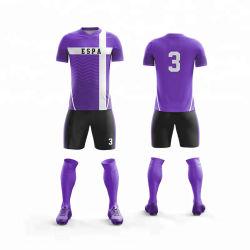 熱い販売クラブフルセットのサッカーのジャージーの最もよい品質のCooldryのサッカーのユニフォーム