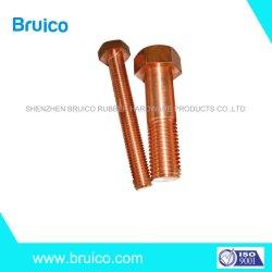 Piezas de mecanizado CNC de bronce de silicio C65100 el tornillo hexagonal, bronce Cabeza Hexagonal, rosca completa o media Tornillo de rosca