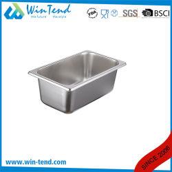 Noi contenitore di alimento diritto dell'acciaio inossidabile del corpo 1/4 GN facciamo una panoramica del cassetto la cucina