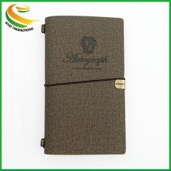 Housse en cuir de haute qualité avec de promotion de la page Dossier de Journal de voyage pour ordinateur portable portable