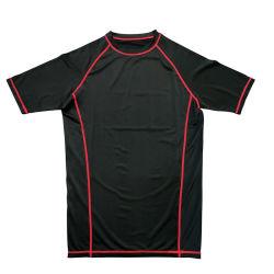 2018 de Nieuwe OEM van de T-shirt van de Sport van de Fitness van de Stijl Yoga Jersey van Jersey van de Fitness van de Grootte van de Douane van het Embleem