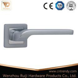 مقبض باب ذراع أنبوبي من الألومنيوم للبيع الساخن على Rosette الكروم اللامع (AL224-ZR23)