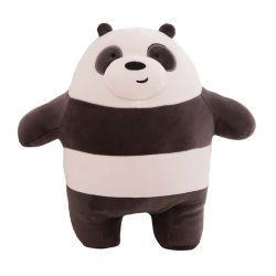 Cuscino su ordinazione sveglio della peluche del panda della manovella del bambino del bambino della peluche dell'orso animale molle all'ingrosso del giocattolo