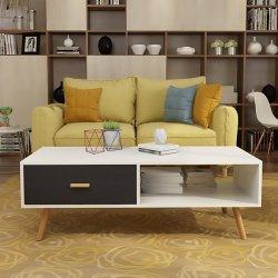Moderno tavolino da caffè, divano, tavolo da pranzo, tavolo da cocktail, TV bianco Tavolo per soggiorno