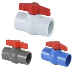 De nieuwe Compacte Plastic Klep van de Kogelklep van pvc van de Klep van pvc Met de Ingepaste of Hete Verkoop van de Contactdoos