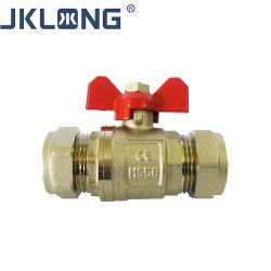 صمام الغاز الطبي النحاسي الكروي للأنبوب النحاسي مع En1254-2 حلقة حبال المواد Ms58 وحلقة نحاس ضغط الكرة الغاز الصمام