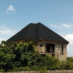 Échantillon gratuit de la Chine carrelage en métal Fabricant de matériaux de construction USA East Zone tuile durables mixte acier recouvert de pierres colorées tôle de toit de tuiles