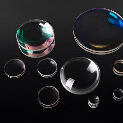 Lente Pegado de vidrio óptico de 1550nm Ar Anti-Fog de Fibra Óptica de cine de la lente