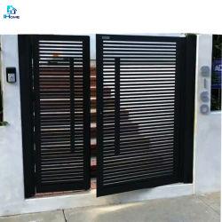 Pátio de alumínio Gate Porta Villa Village Courtyard Porta Corrediça Courtyard Duplo comunitário metálica aberta a porta de segurança