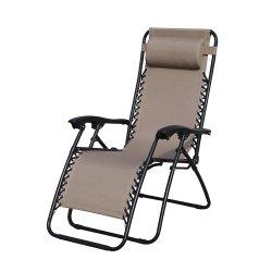 Jardin extérieur patio en acier pliage Lazy Boy fauteuil inclinable Zero Gravity Chaise