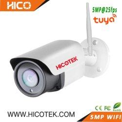 5MP Tuya 스마트 실외 WiFi 무선 초고속 무선 IP 비디오 감시 보안 CCTV 오디오 카메라 지원 Humanoid Motion Detection IE NVR CMS ONVIF