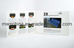 4.3Inch ecrã LCD das Auto Publicidade Livro de vídeo
