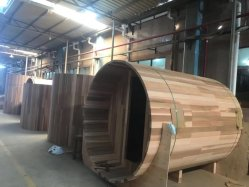 Nieuwe stijl Cilinderceder Sauna kamer