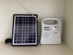 5W Portable 3 ampoules de lumière LED/Kits d'éclairage solaire énergie solaire photovoltaïque hors réseau système d'énergie de l'alimentation avec Radio/ MP3/lecteur de carte SD
