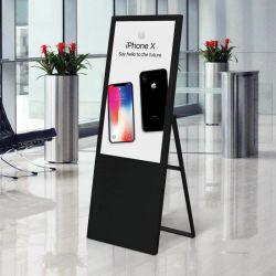 Aiyos ポータブル 43 インチスーパースリムポスターディスプレイ LCD スクリーン 広告用ディスプレイ