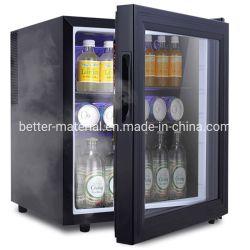 유리 문 냉장고를 갖춘 30L 냉장고 온도식 미니 호텔 바 냉장고