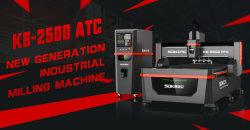 Professional SDK K6-2500 leistungsstarke ATC Hochleistungs-CNC-Schneidemaschine/ CNC-Router / CNC-Gravur-Maschine Verarbeitung Aluminium Kupfer MDF Acryl