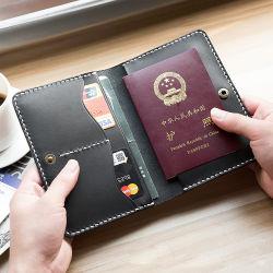 حجب RFID الأسود الجلد PU غطاء جواز السفر السفر السفر الترويج حقيبة جواز سفر للهدايا