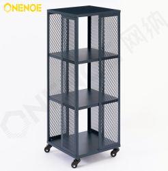 Onenoe Mobile Mobile Mobile Mobile Multi-function Wire Storage Organizer Bookshelf for File Wine Display Carrello Bookcase in soggiorno e ufficio (Blu 4 strati)
