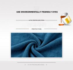 Usine de gros de l'impression couleur solide de polyester et de laine polaire recto verso recto