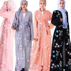 Maxi vestiti per il vestito lungo islamico operato da Jalabiya dell'abito musulmano di Abaya Doubai degli abiti di sera di modo delle signore delle donne
