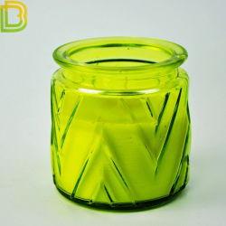 Vela de vidro copo castiçal padrão personalizado para castiçal