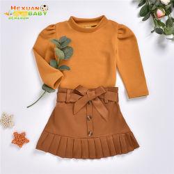 패션 뉴본 걸즈 따뜻한 가을 겨울 의류 세트 키즈 걸 니트 의류 영아용 토들러 상의 셔츠 세트