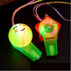 Цветные светодиодные сверкание пластиковый свисток бусы и пультов управления