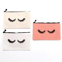 De Nuttige Katoenen van de Douane van de Make-up van de Wimper van de Manier Kosmetische Zakken van uitstekende kwaliteit