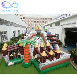 Parque de Atracciones inflables de PVC personalizadas Saltar Castillos Rocódromo inflable con tobogán