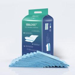 尿の小便のパッドシートDisposの下の吸収性の青い人の試供品の大人の使い捨て可能なベッドの不節制