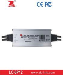 LED de controle sem fio da lâmpada de rua do controlador do sistema (LC-6P12)