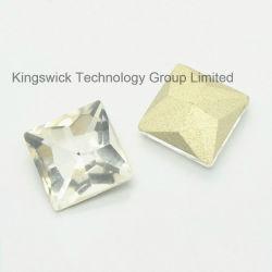 Sew quadrato su Glass Crystal Diamante Stone