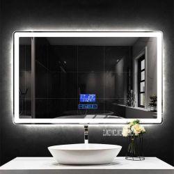con l'indicatore luminoso fissato al muro dello specchio della stanza da bagno dello specchio LED del salone dell'interruttore del sensore