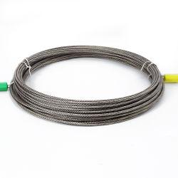 6mm 10mm cabos de aço inoxidável 7X7 SS 304 Cabo