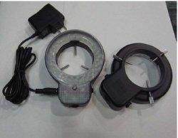 White brandnew Illuminated Microscope Ajustable Ring Light Stereo Microscope 48 LED Ring Lamp con Adapter 220V o 110V