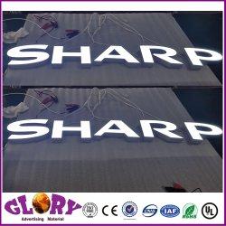 Firmar carta fuerte señal luminosa de alto brillo y el logotipo de 10cm de tamaño 15cm