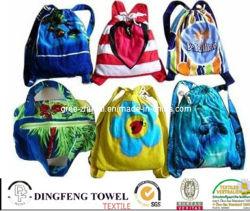 100% coton sac à dos Sac de serviettes de plage