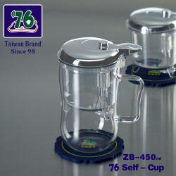 En verre clair chinois/ haute en verre borosilicaté, jeu de thé avec 450ml tasse de thé