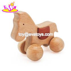 Bon marché de gros bébé animal voiture jouet en bois avec une haute qualité W04A236