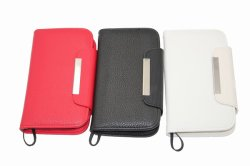 Cas de portefeuille en cuir de luxe pour Samsung Galaxy S3 (LP-SG3-42)