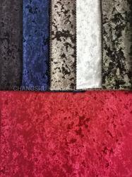 Tecidos de malhas de qualidade elevada gelo triturado de veludo de veludo